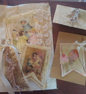 Stitched Lace Tag Decor Dies