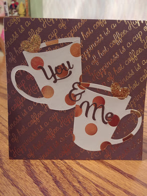 You and Me Coffee Cup Dies