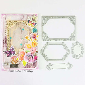 Lace Frame Ornament Tag Dies