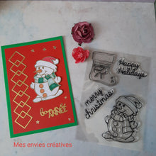 Load image into Gallery viewer, Christmas Snowman Stamps