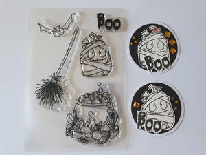 Halloween Spooky Boo  Stamps