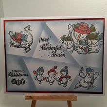 Load image into Gallery viewer, Christmas Happy Snowmen Dies with Stamps Set