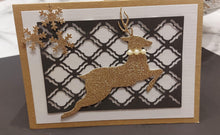 Load image into Gallery viewer, Running Snowflakes Pattern Deer Dies