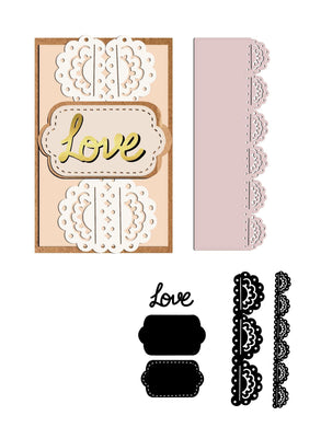 Love Lace Border Dies