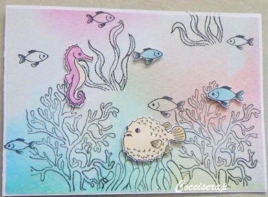 Fish, Seahorse & Sea Plants Stamps