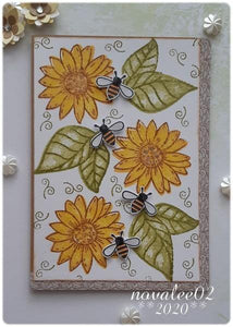 Oil Painting Style Sunflowers Stamps