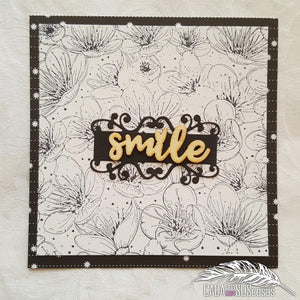 Cherry Blossoming Flower Background Stamps