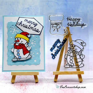 Christmas Snowman Stamps