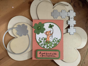 Four Leaf Clover Circle and Cornor Dies