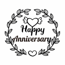 Load image into Gallery viewer, Happy Anniversary Decor Dies