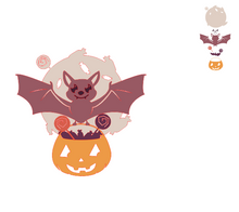 Load image into Gallery viewer, Bat and Pumpkin Cutting Dies