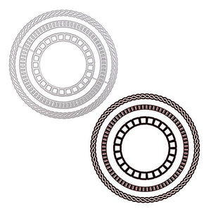 Stackable Spiral Pattern Circle  Dies
