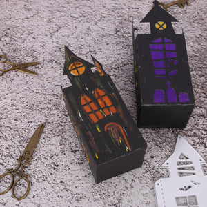3D Ghost House Shape Box Decor Dies