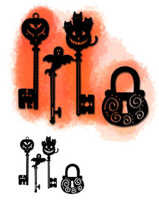 Halloween Series Key & Lock Decor Dies