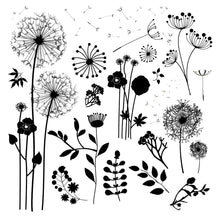 Load image into Gallery viewer, Elegant Dandelion Dies with Stamps Set