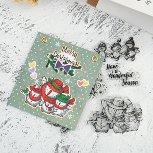 Christmas Happy Snowmen Dies with Stamps Set