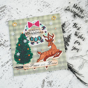 Merry Christmas Jumping Deer Dies with Stamps Set