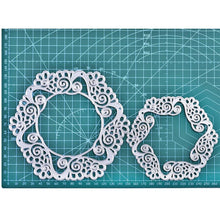 Load image into Gallery viewer, Lace Floral Frame Cut Dies