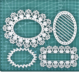 Heart Lace Frame Border  Dies