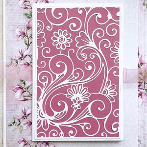 Hollow Floral Background Dies