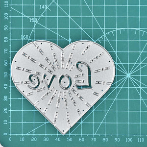 Clipped Love Word Heart Dies