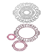 Load image into Gallery viewer, Large Size Oval Lace Frame Cutting Dies