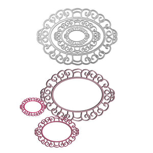 Large Size Oval Lace Frame Cutting Dies