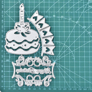 Birthday Cake Lace Cutting Dies
