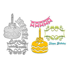 Load image into Gallery viewer, Birthday Cake Lace Cutting Dies