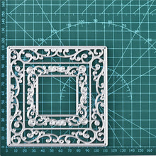 Load image into Gallery viewer, Echoing Square Lace Frame Dies