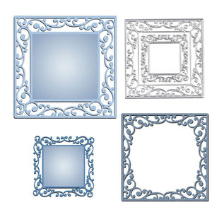 Echoing Square Lace Frame Dies