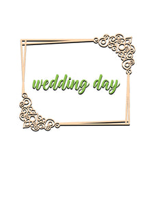 Wedding Day Frame Decor Dies