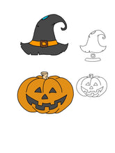 Load image into Gallery viewer, Pumpkin&Witch Hat Dies