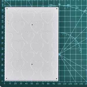 Heart Stitched Embossing Backdrop Dies