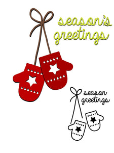 Season's Greeting Sweater Gloves  Dies