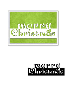Merry Christmas Words Decor Dies