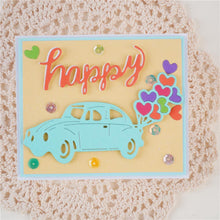 Load image into Gallery viewer, Cute Car with Heart Ballon Dies