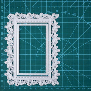 Lace Floral Frame Decor Dies