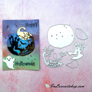 Happy Halloween in Pumpkin Shape Cutting Dies