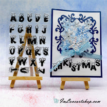 Load image into Gallery viewer, Christmas Series: Bold English Letter Snowflake Alphabet Stamps