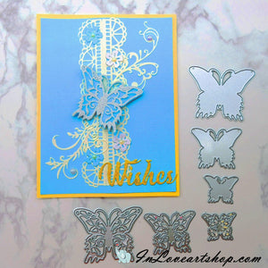 Pattern & Hollow Butterfly  Dies Set