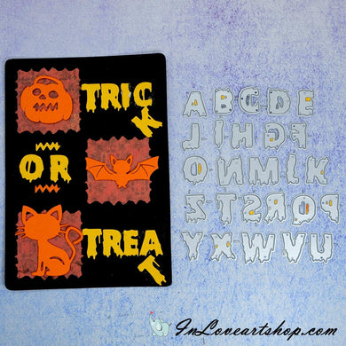 Halloween Series Alphabet Dies