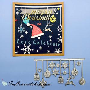 Christmas Elements Hanging Decor Dies