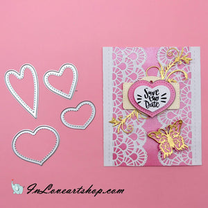 Stitched Heart Shaped dies