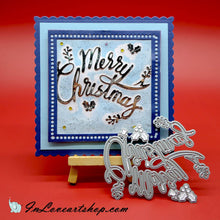 Load image into Gallery viewer, Merry Christmas with Mistletoe Words Dies