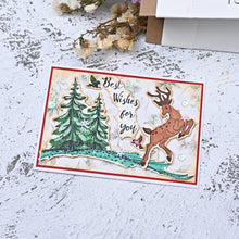 Load image into Gallery viewer, Merry Christmas Jumping Deer Dies with Stamps Set