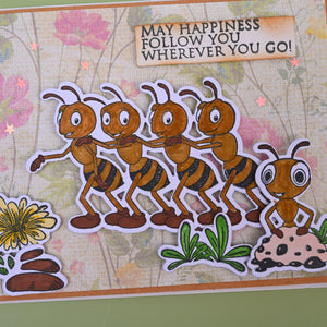 Dancing Ants Dies with Stamps Set