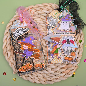 Cute Halloween Witches Dies with Stamps Set