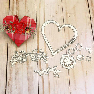 Heart Shape Flower Decor Dies