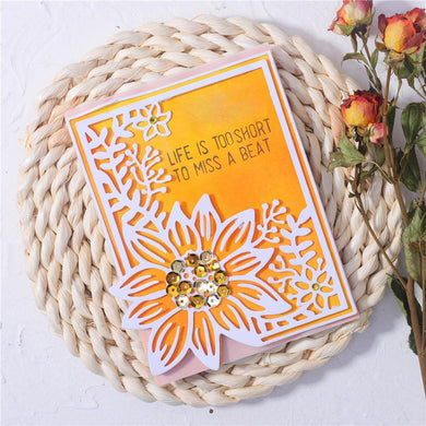 Sunflower and Branches Decor Border Dies
